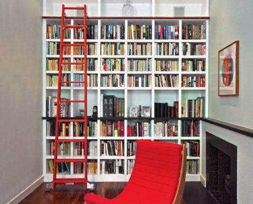 کتابخانه و قفسه مدرن