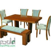 میز ناهارخوری چوبی مدرن