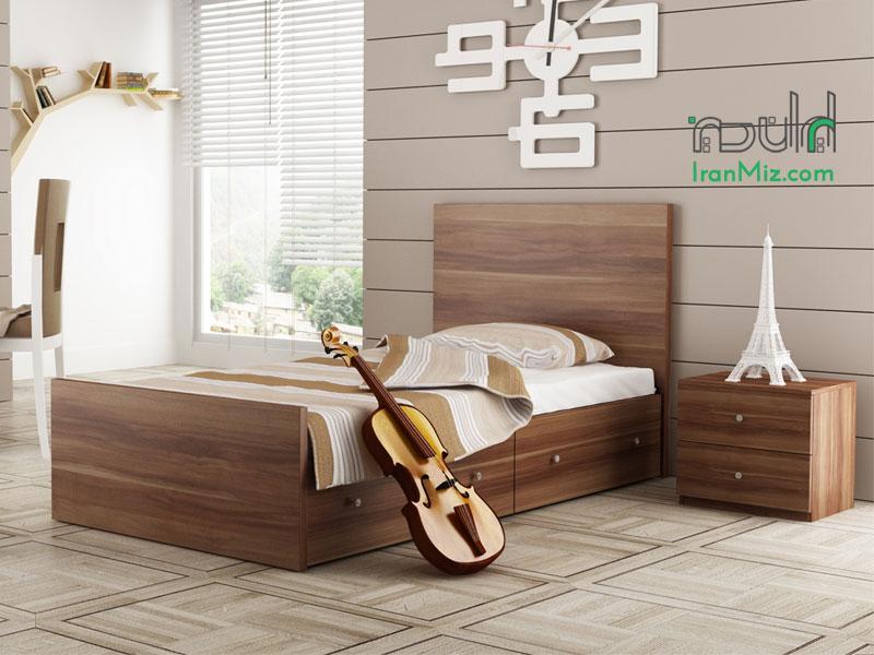 تخت خواب یک نفره فلزی مدل صبا