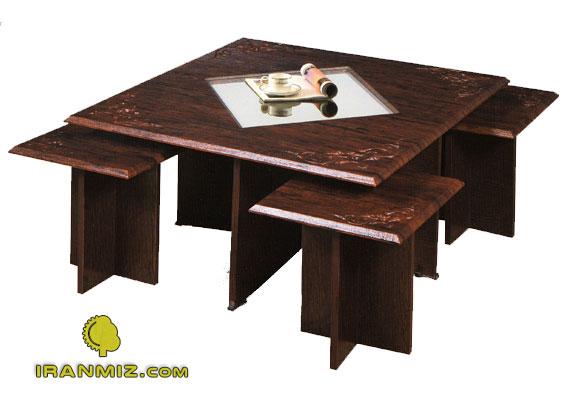 قیمت میز خاطره ها ایران میز - میز عسلی، میز عسلی شیشه ای مدل جلو مبلی وکیوم 107