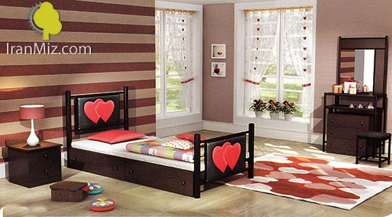 تخت خواب یکنفره قلب