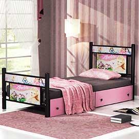 تخت یکنفره باربی